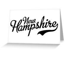 New Hampshire Script Black Greeting Card