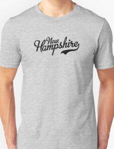 New Hampshire Script Black T-Shirt