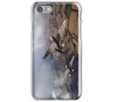 Spitfires among low clouds iPhone Case/Skin