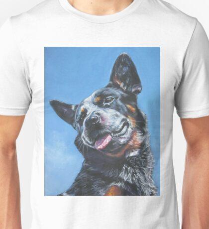 Australian Cattle Dog Fine Art Painting Unisex T-Shirt