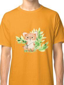 Cute watercolor fox Classic T-Shirt