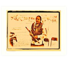American Native Indian from the Crow Nation Art Print