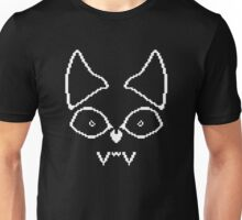 Pixel Bat - Contrast Design, White Unisex T-Shirt