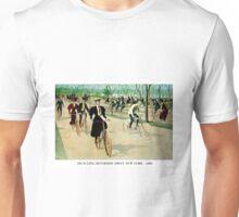 BICYCLING RIVERSIDE DRIVE NEW YORK; Vintage Print Unisex T-Shirt