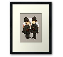 Victorian cops Framed Print