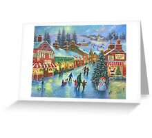 CHRISTMAS ON PEPPERMINT LANE PAINTING Greeting Card