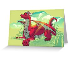 Relaxing Red Greeting Card