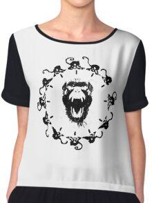 12 monkeys logo print Chiffon Top