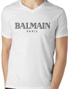 Balmain white Mens V-Neck T-Shirt