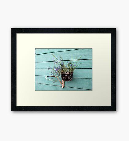 flower pot with flowers Framed Print