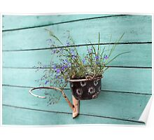 flower pot with flowers Poster