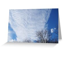 "Sky with ""Cotton Batting"" Clouds  Greeting Card"