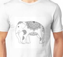 Vintage elephant with tribal ornaments Unisex T-Shirt