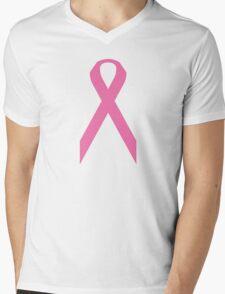 Breast Cancer Awareness ribbon Mens V-Neck T-Shirt