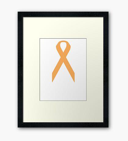 Appendix Cancer Awareness ribbon Framed Print