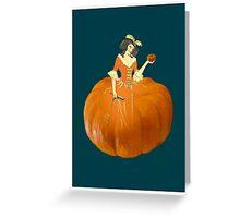 Lady Pumpkin for Halloween Greeting Card