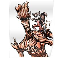 Groot and Rocket Poster
