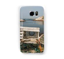 Peggy's cove through a lobster trap Samsung Galaxy Case/Skin