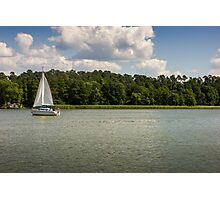 Lake Sailboat Photographic Print