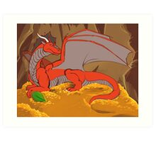 Don't even think about stealing my emerald! Art Print