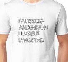 ABBA the four fabulous' SURNAMES design! Unisex T-Shirt