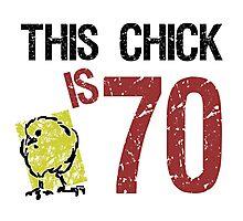 Women's Funny 70th Birthday Photographic Print