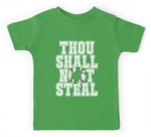 Baseball Products: Thou Shall Not Steal - Catcher Kids Tee
