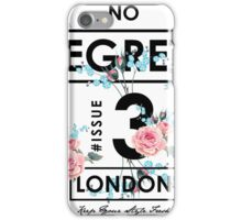 Flower slogan graphic iPhone Case/Skin