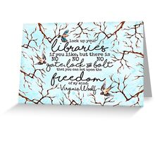 Virginia Woolf Quote Greeting Card