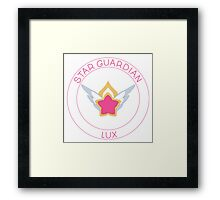 Star Guardian Lux White Framed Print