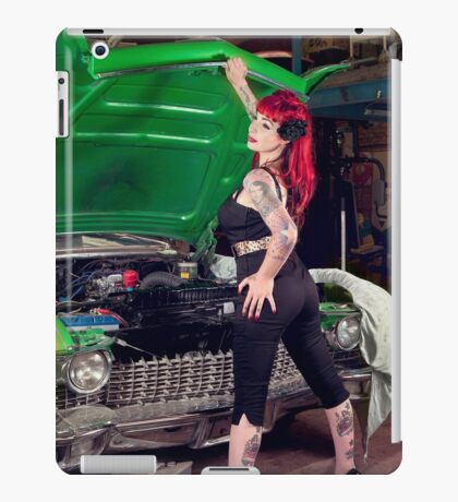 Garage Babe iPad Case/Skin