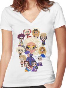 RPDRAS2 Women's Fitted V-Neck T-Shirt