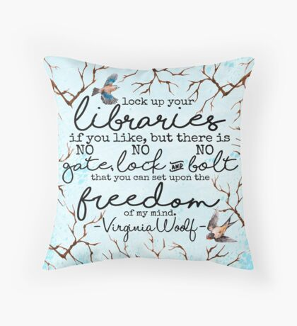 Virginia Woolf Quote Throw Pillow