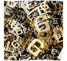 Letters conglomeration Poster