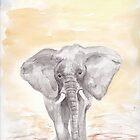 The Elephant Original Watercolour by Shaun Groenesteyn