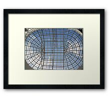 skylight glass roof Framed Print