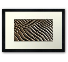 abstract sand pattern Framed Print