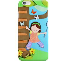Butterfly Catcher. Paper Art iPhone Case/Skin