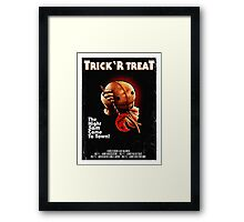 Trick 'r Treat Halloween Poster Framed Print