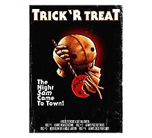 Trick 'r Treat Halloween Poster Photographic Print