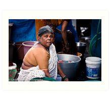 Washer Woman Art Print
