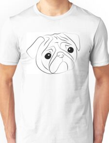 Sketch of  pug-dog Unisex T-Shirt