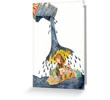 rain! Greeting Card