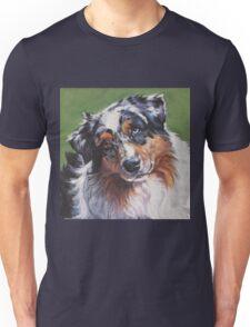 Australian Shepherd Fine Art Painting Unisex T-Shirt
