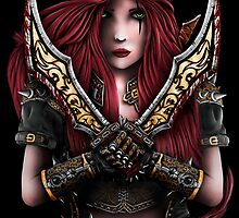 Katarina - League of Legends - Gold Blood by Dicronious