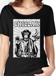Chillax Chimp Women's Relaxed Fit T-Shirt