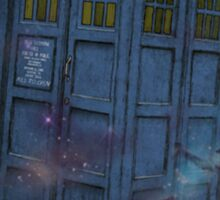 Tardis  and Space Sticker