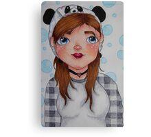 Meee, Panda hat girl Canvas Print
