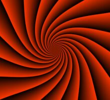 Red spiral background - optical illusion of rotation Sticker