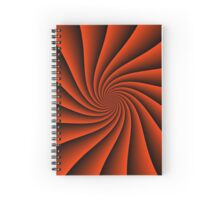 Red spiral background - optical illusion of rotation Spiral Notebook
